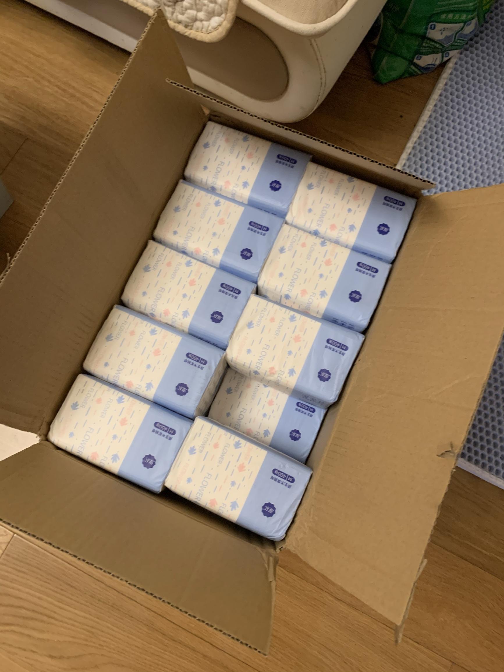 【可拍5件】400张漫花抽纸4大包